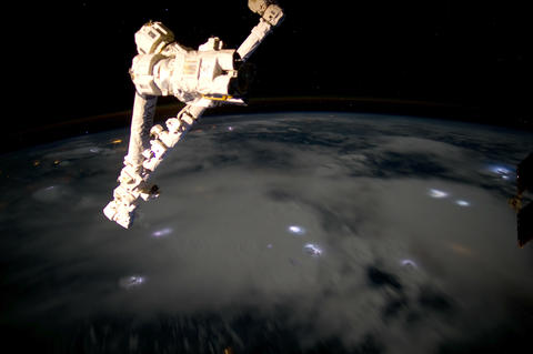 caribbeanstorms iss 20120629 High Res 4k Stock Video Footage