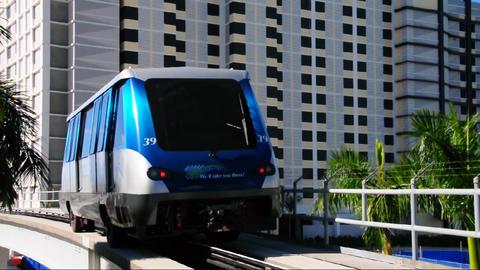 Metromover train in Miami Stock Video Footage