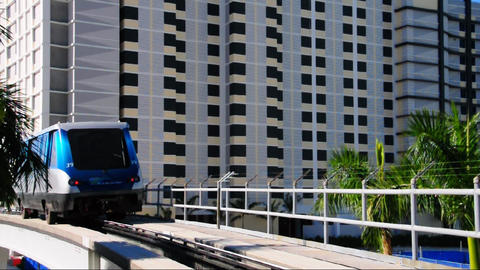 Metromover train in Miami Footage