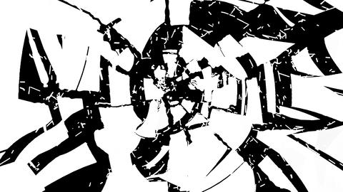 4K smashed and Shattered glass with slow motion. A Stock Video Footage