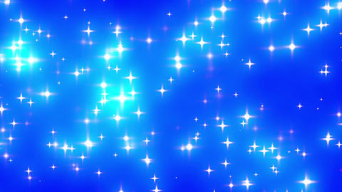 Blue Looping Glowing Stars Background 1 fast Animation