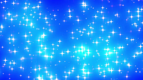 Blue Looping Glowing Stars Background 1 dense fast Animation