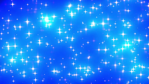Blue Looping Glowing Stars Background 2 dense Animation