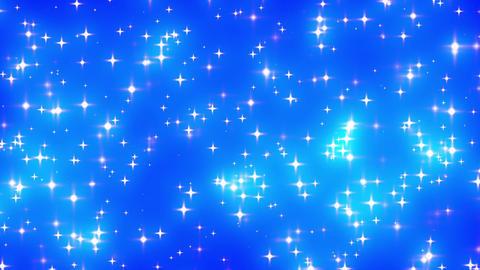 Blue Looping Glowing Stars Background 2 dense Stock Video Footage