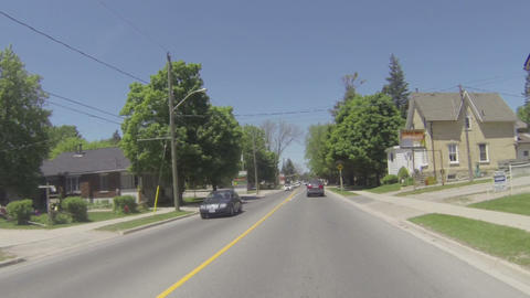 Camera car in small town in Ontario Footage