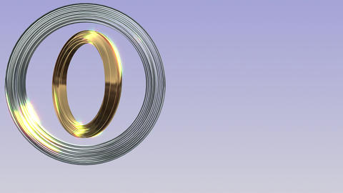 Brilliant ring rotation Stock Video Footage