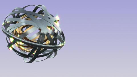 Brilliant ring rotation Animation