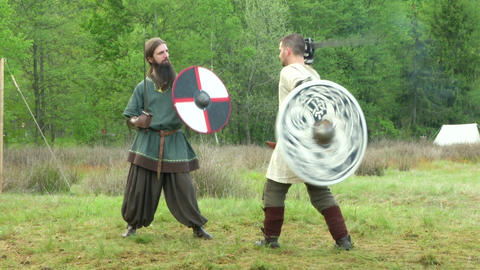 celtic warrior fight 15 Stock Video Footage