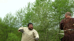 celtic warrior fight 24 Stock Video Footage