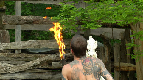 celtic fire show 02 Footage