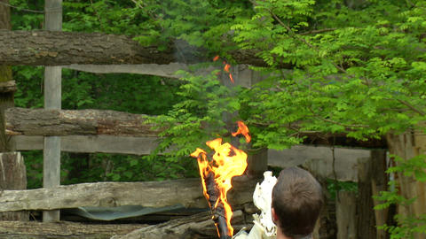 celtic fire show 02 Stock Video Footage