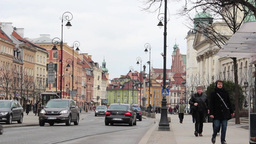 Warsaw, Poland. The old Town. UNESCO heritage site Stock Video Footage