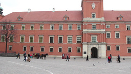 Warsaw, Poland. The Royal Palace in the Old Town Stock Video Footage