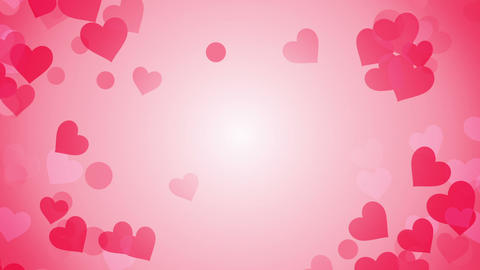 heart shapes on bright background loop Stock Video Footage