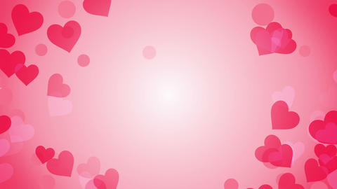 heart shapes on bright background loop Animation