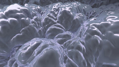 Silver liquid substance. (loop-ready file) Stock Video Footage