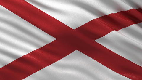 US state flag of Alabama seamless loop Animation
