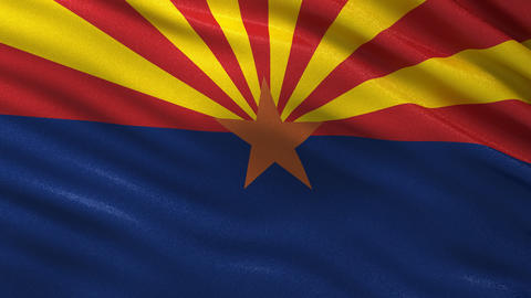 US state flag of Arizona seamless loop Animation