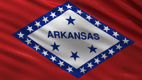 US state flag of Arkansas seamless loop Animation