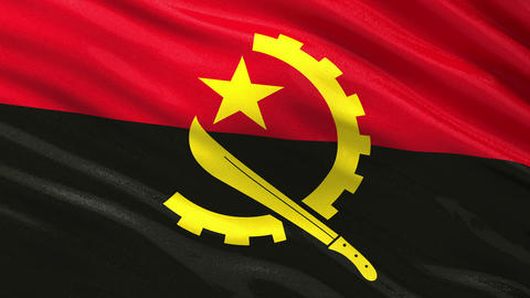 Flag of Angola seamless flag Animation