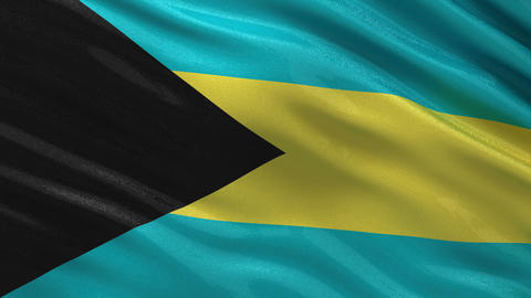 Flag of the Bahamas seamless loop Animation