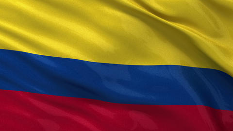 Flag of Colombia seamless loop Stock Video Footage