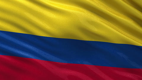 Flag of Colombia seamless loop Animation