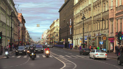 Nevsky Prospect. Saint-Petersburg. 4K stock footage