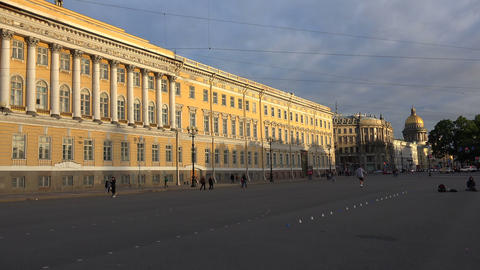 The General staff on Palace square. Saint-Petersbu Stock Video Footage