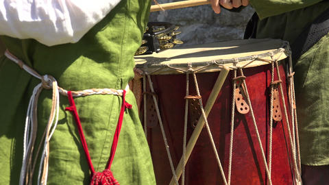 Drum. Percussion instrument. 4K Footage