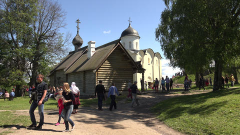 The Cathedral in the fortress. Old Ladoga. 4K Stock Video Footage