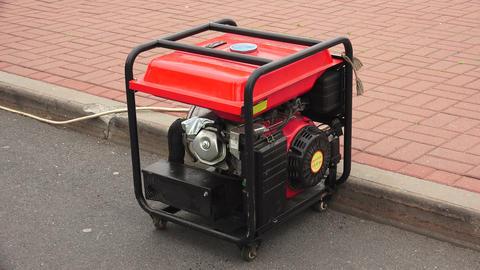 Gasoline generator. 4K Footage