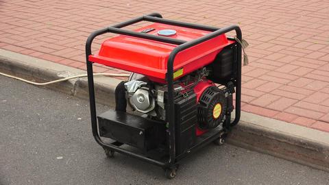 Gasoline generator. 4K Stock Video Footage