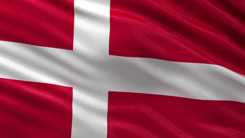 Flag of Denmark seamless loop Animation