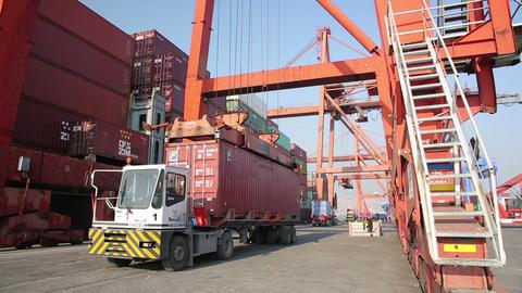 IZMIR, TURKEY - JANUARY 2013: Freight ship moored  Footage