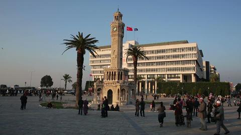 IZMIR, TURKEY - JANUARY 2013: Everyday scene on ci Stock Video Footage