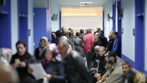 IZMIR, TURKEY - JANUARY 2013: People waiting in ho Stock Video Footage