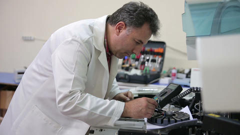 IZMIR, TURKEY - JANUARY 2013: Preparing laboratory Footage