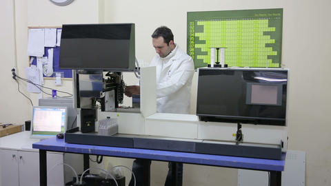 IZMIR, TURKEY - JANUARY 2013: Preparing laboratory Stock Video Footage