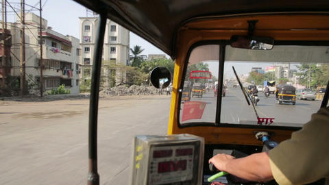 MUMBAI, INDIA - MARCH 2013: Everyday traffic scene Stock Video Footage