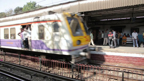 MUMBAI, INDIA - MARCH 2013: People travelling on o Stock Video Footage