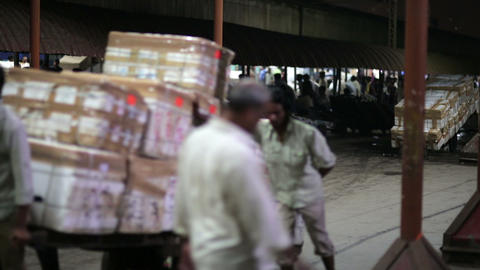 MUMBAI, INDIA - MARCH 2013: Goods transported on p Footage