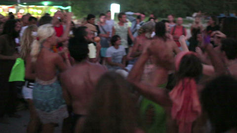 GOA, INDIA - MARCH 2013: People dancing on beach Footage
