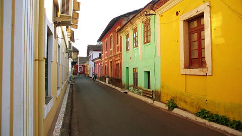 GOA, INDIA - MARCH 2013: Old colonial architecture Stock Video Footage