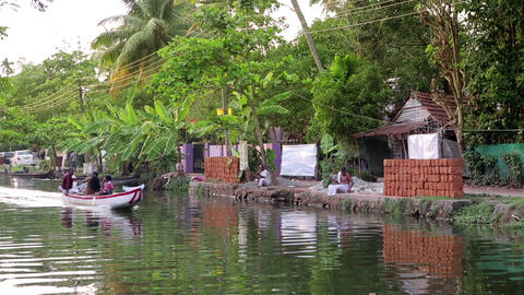 ALLEPPEY, INDIA - MARCH 2013: Everyday scene in Ke Footage