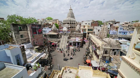 UDAIPUR, INDIA - APRIL, 2013: Everyday city scene Stock Video Footage