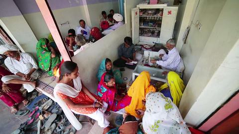 JAIPUR, INDIA - APRIL, 2013: Local people buying j Footage