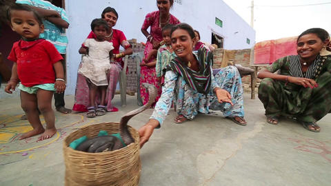 JAIPUR, INDIA - APRIL, 2013: Local people playing Stock Video Footage