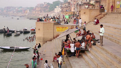 VARANASI, INDIA - MAY 2013: Everyday scene by Gang Footage