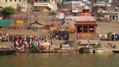 VARANASI, INDIA - MAY 2013: Everyday scene by Gang Footage